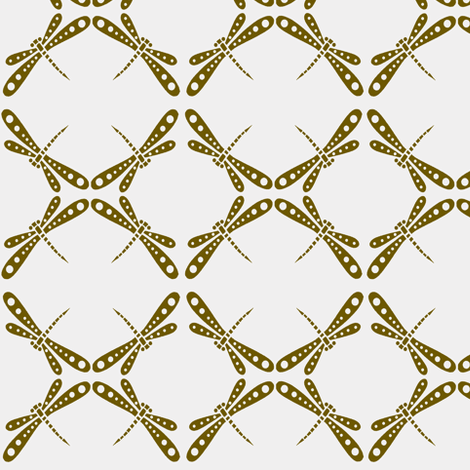 Dragonfly Dance -  Bronze fabric by kristopherk on Spoonflower - custom fabric