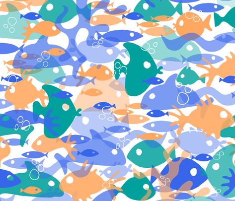 fishsoup fabric by musterartig on Spoonflower - custom fabric