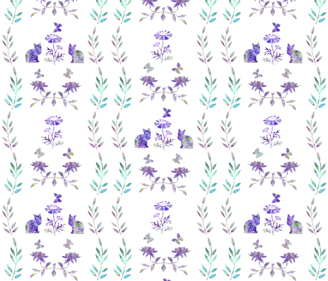 """Cat cookies fabric by frances""""fancy_felter"""" on Spoonflower - custom fabric"""