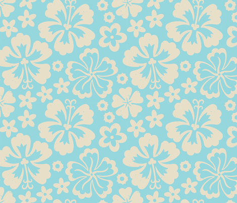 Aloha Flowers 7a fabric by muhlenkott on Spoonflower - custom fabric