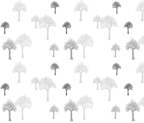 TreesGrayshades fabric by mrshervi on Spoonflower - custom fabric