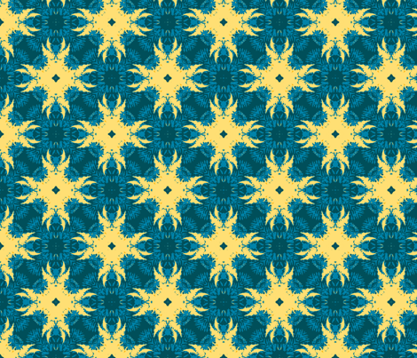 gold and blue star burst fabric by khowardquilts on Spoonflower - custom fabric