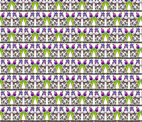 BIRD BRAIN 05.Twins In the Tulips Stripes fabric by susanfaye on Spoonflower - custom fabric