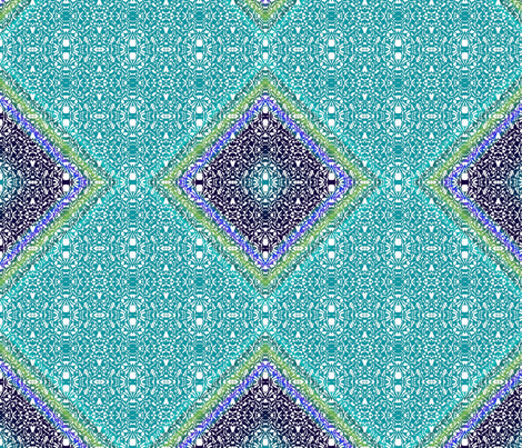 Hawaiian Blues fabric by vickijenkinsart on Spoonflower - custom fabric