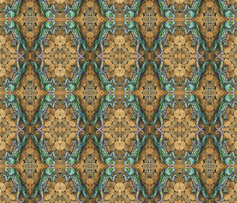 rainbowgecko_2_vickijenkinsart fabric by vickijenkinsart on Spoonflower - custom fabric