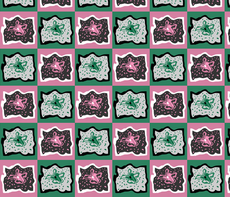 green_and_pink_doodle_gooify_Picnik_collage fabric by khowardquilts on Spoonflower - custom fabric