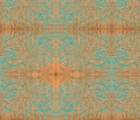 CoralWaterTurquoiseFish fabric by micheleoue on Spoonflower - custom fabric