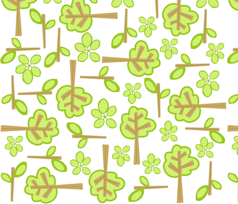 forest fabric by emilyb123 on Spoonflower - custom fabric