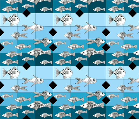 whimsical_fish_1d fabric by vickijenkinsart on Spoonflower - custom fabric