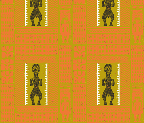 Marquesan Tiki 2a fabric by muhlenkott on Spoonflower - custom fabric