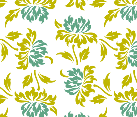 Aloha Flowers 9a fabric by muhlenkott on Spoonflower - custom fabric
