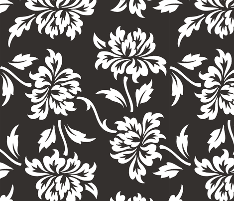 Aloha Flowers 9b fabric by muhlenkott on Spoonflower - custom fabric