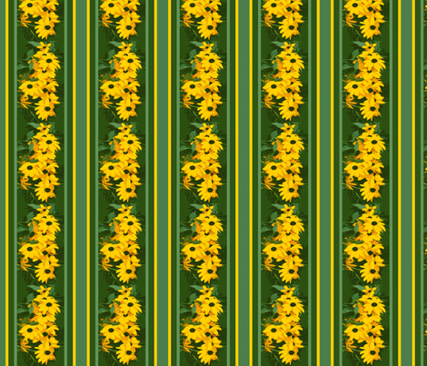 Black_Eyed_Susan_stripe_3_August_1_2009_012-ch fabric by khowardquilts on Spoonflower - custom fabric