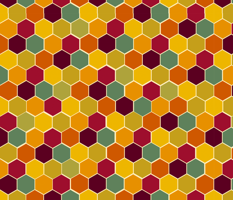 honeycomb fabric by 1canoe2 on Spoonflower - custom fabric