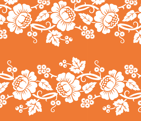 Aloha Flowers 11a fabric by muhlenkott on Spoonflower - custom fabric
