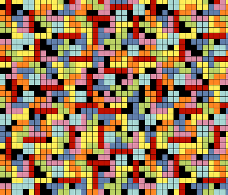 Tetris-Style Tile fabric by jennytoo on Spoonflower - custom fabric