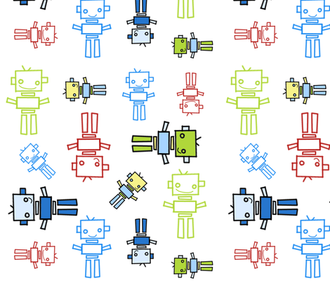 robots fabric by emilyb123 on Spoonflower - custom fabric