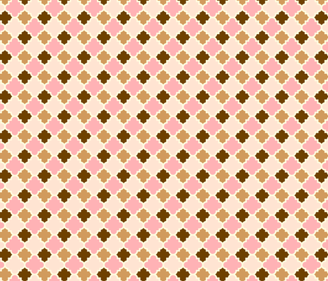 Ice Cream Social :: Neapolitan :: Tiles fabric by cottageindustrialist on Spoonflower - custom fabric