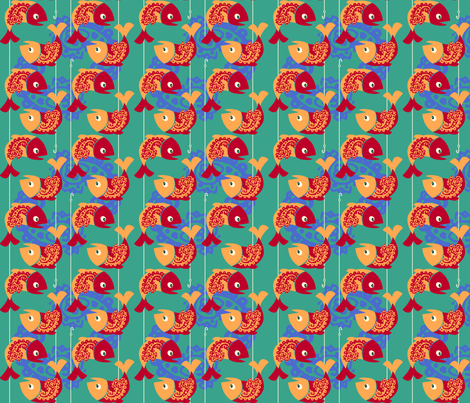 Paisley Fish fabric by beckarahn on Spoonflower - custom fabric