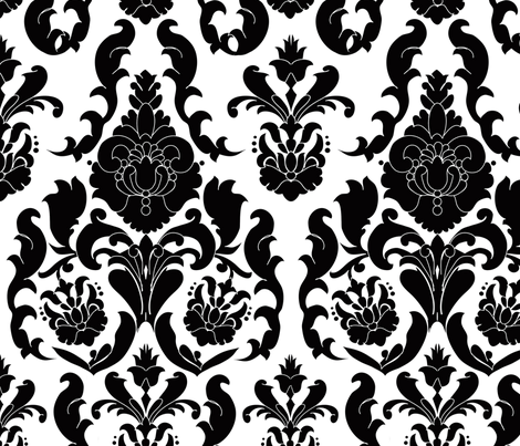 Damask De France fabric by elainebiss on Spoonflower - custom fabric