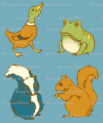 Duck Skunk Frog Squirrel