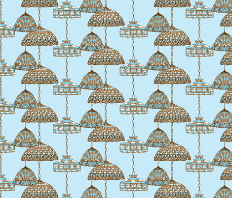 Ice Cream Social :: Blue Moon :: Salon fabric by cottageindustrialist on Spoonflower - custom fabric