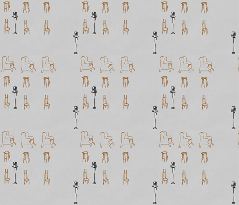 Chairs in Motion-082 fabric by kkitwana on Spoonflower - custom fabric
