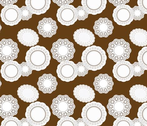 Ice Cream Social :: Vanilla Bean :: Doilies fabric by cottageindustrialist on Spoonflower - custom fabric
