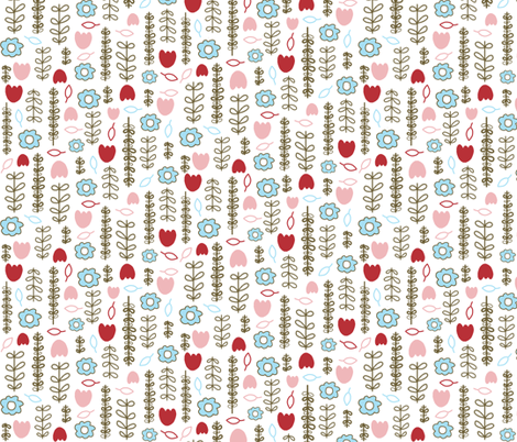 Sweet Floral fabric by emilyb123 on Spoonflower - custom fabric