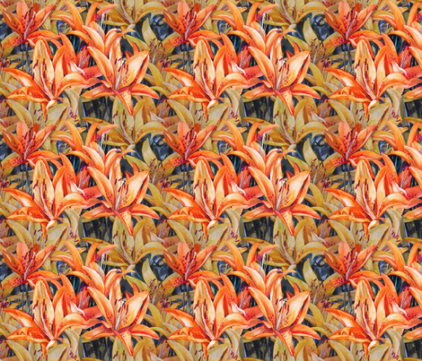 Lily Land fabric by helenklebesadel on Spoonflower - custom fabric