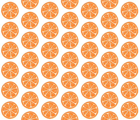 orange slices fabric by bubbledog on Spoonflower - custom fabric