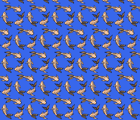 koi joy blue fabric by mytinystar on Spoonflower - custom fabric