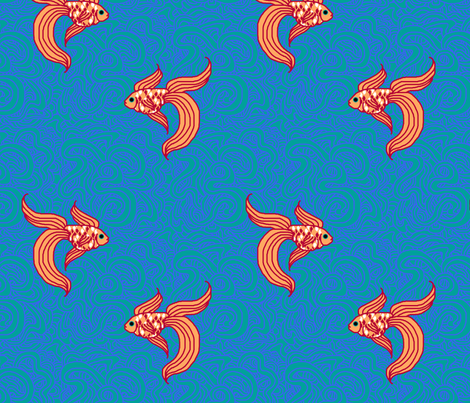 Weird Fishes Version II fabric by leighr on Spoonflower - custom fabric