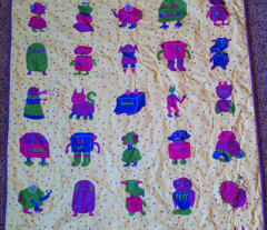 Robot Whole Cloth Baby Quilt