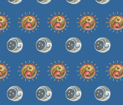 Sun and moon fabric jasmo spoonflower for Sun and moon fabric