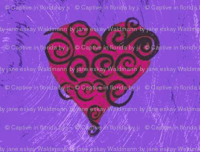 Valentine Hearts Fuchsia