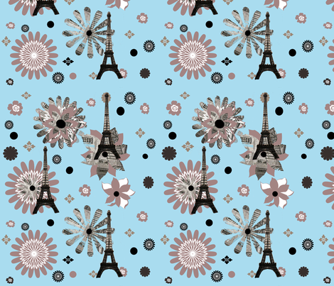 Mod Paris fabric by karenharveycox on Spoonflower - custom fabric