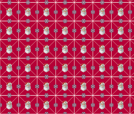 Santa & Snowflakes fabric by jamesm4321 on Spoonflower - custom fabric