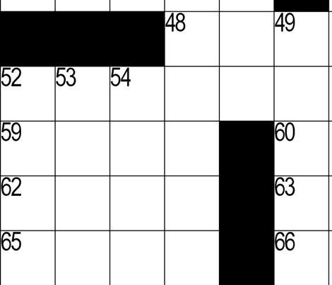 Crossword Puzzle fabric by erinmckean on Spoonflower - custom fabric