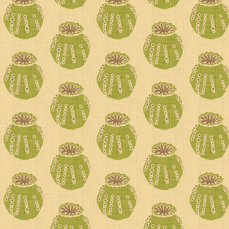poppy_pod linen fabric by holli_zollinger on Spoonflower - custom fabric