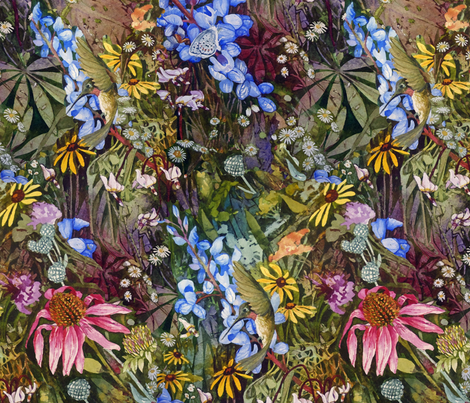 Prairie Garden Plenty fabric by helenklebesadel on Spoonflower - custom fabric