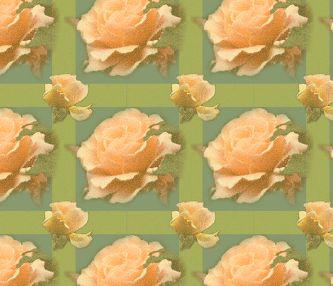 PeachGreenRoseTartan fabric by b_mac_b on Spoonflower - custom fabric
