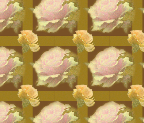 ChocolateYelllowRoseTartan fabric by b_mac_b on Spoonflower - custom fabric