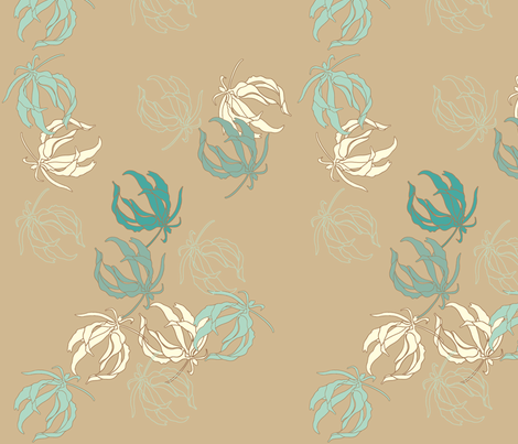 leaves_aqua fabric by holli_zollinger on Spoonflower - custom fabric