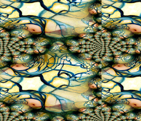 Sun_tree_fractal_1 fabric by rosyfuschia on Spoonflower - custom fabric