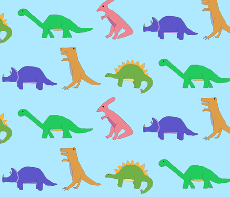 Dinosaur Parade fabric by serenity_ii on Spoonflower - custom fabric