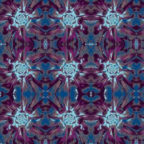 purple and blue succulent