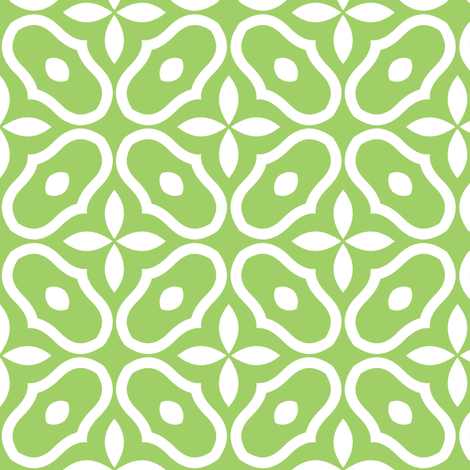 Mosaic - Leaf Green fabric by inscribed_here on Spoonflower - custom fabric