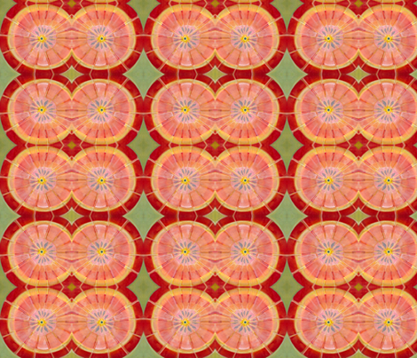 Pink Grapefruit fabric by angela_deal_meanix on Spoonflower - custom fabric