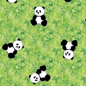 Panda Tumbles - Bamboo Green